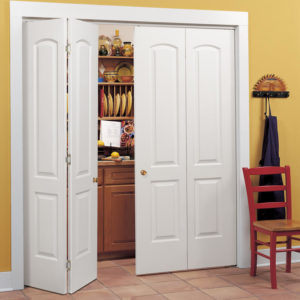photo of 2 panel double bi-fold doors with arch top