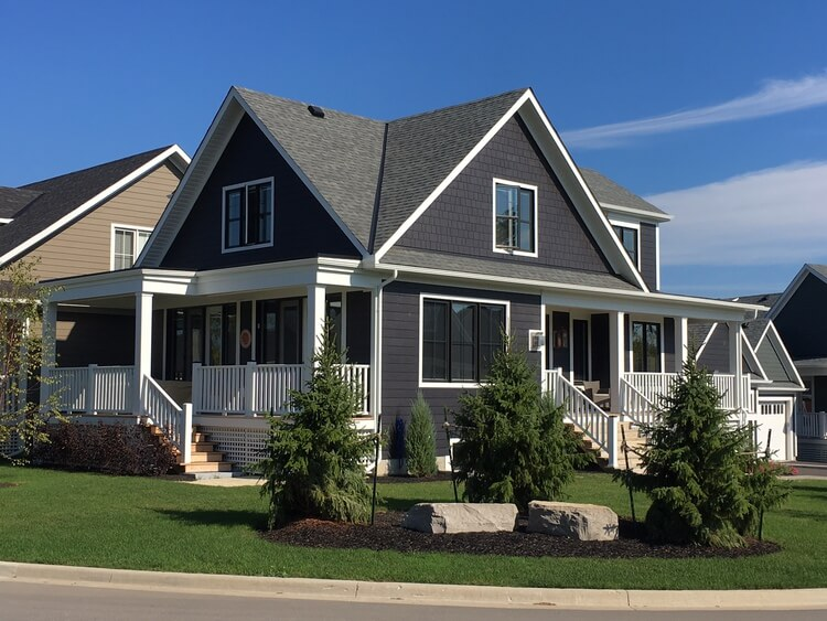 Large home with siding