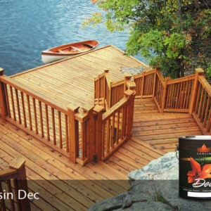 photo of a dock finished with Sansin DEC