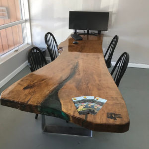 photo of live edge Ash meeting table