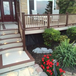 photo of PVC decking and handrail
