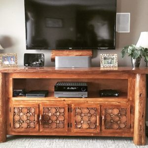 photo of live edge tv stand