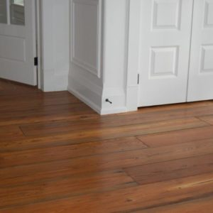 photo of reclaimed pine flooring