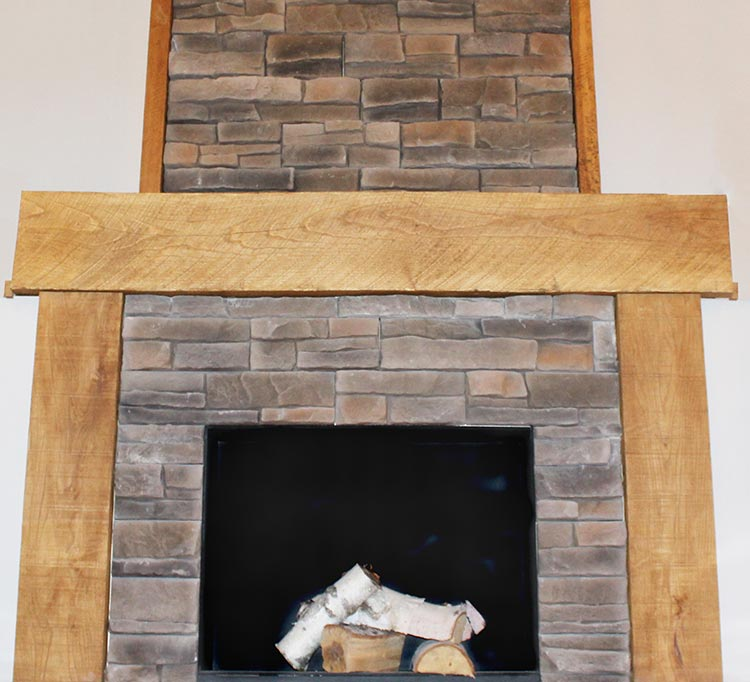 Douglas Fir Fireplace