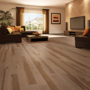 photo of smooth maple flooring
