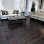 photo of hand scraped hickory flooring