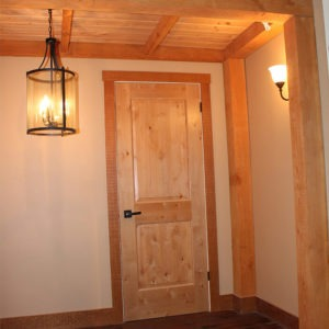 Alder Door, Fir Trim, Fir Beams, Fir Ceiling