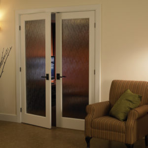 photo of Single panel double doors with decorative glass