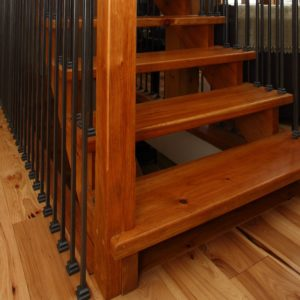 Pine Stairs w/ Bezdan Spindles