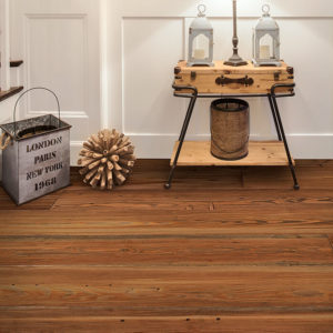 photo of Craft Floors: Reclaimed Heart Pine Saddle