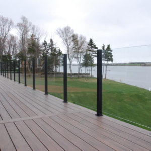 photo of Endeck PVC Decking w/ Century Scenic Glass Rail