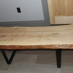 photo of maple live edge table