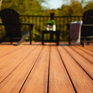 photo of Trex decking and handrail