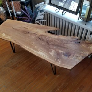 photo of live edge olivewood table
