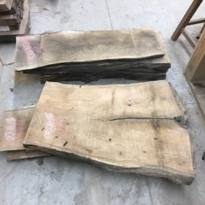 photo of 8/4 live edge Red Oak slabs (kiln dried)