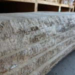 Kiln Dried 12/4 Worm Track Ash 9' (half slabs available) $8/board foot