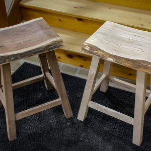 photo of live edge Maple & Walnut Bar Stools