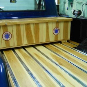 photo of Amazing wooden truck bed built with Hickory