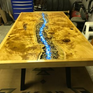 photo of a stunning mappa live edge table