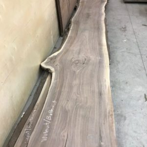 photo of 8/4 live edge Walnut/Butternut hybrid slabs, sanded and kiln dried, up to 19' long!