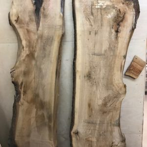 photo of 8/4 Live Edge Hickory slabs KD